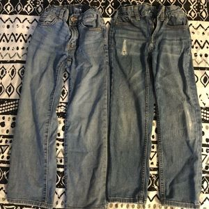 2 pairs of boys jeans size 6